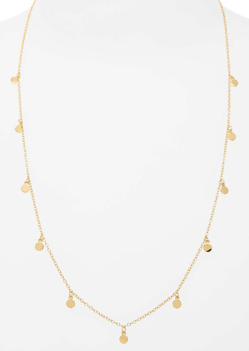 ea0cd2b66a4 J.Crew J.Crew Demi Fine 14k Gold Plated Necklace with Dot Charms Now ...