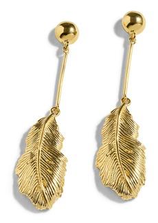 J.Crew Demi Leaf Drop Earrings