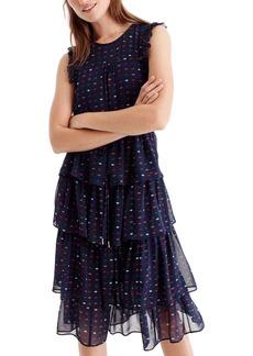 J.Crew Density Tiered Silk Dress