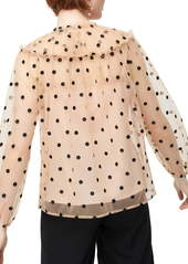 J.Crew Diana Candy Dot Tulle Top