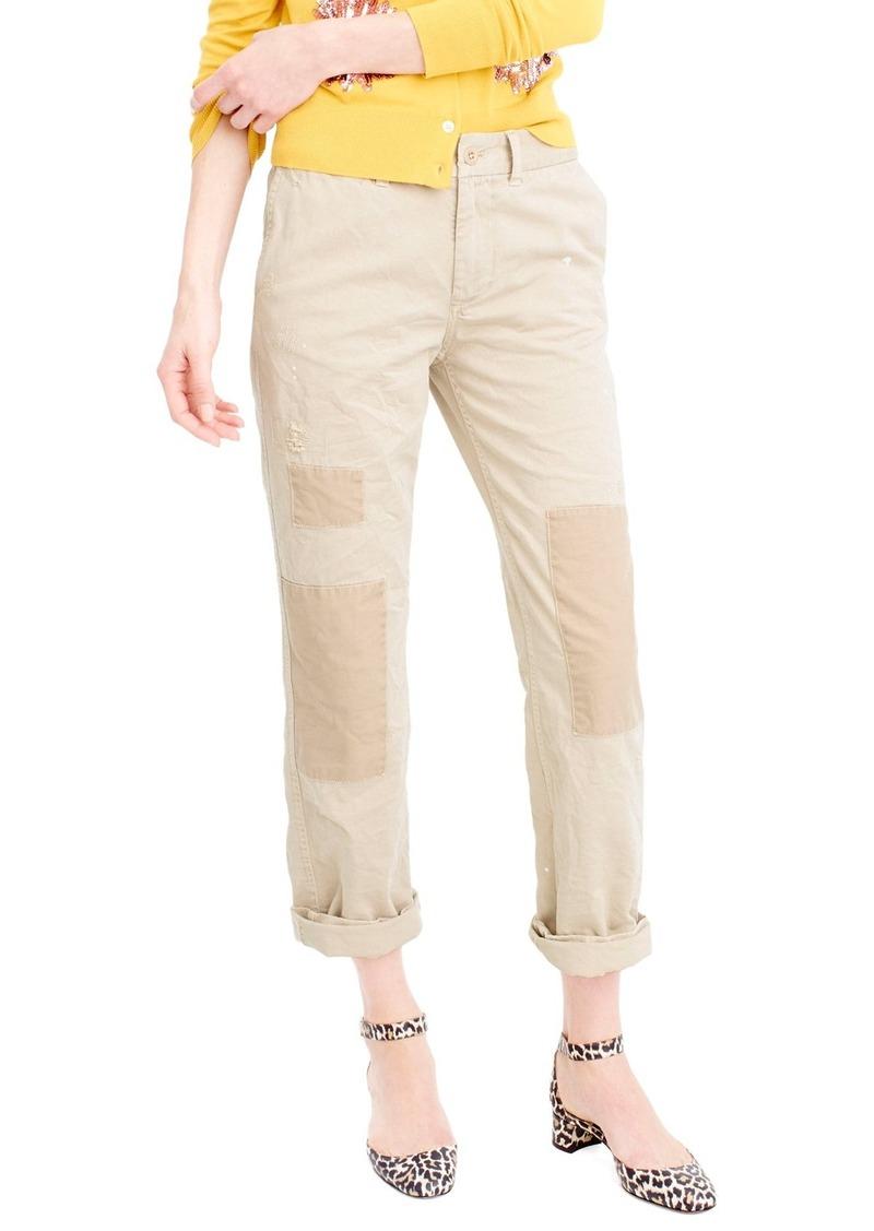 59ac456948fdb J.Crew J.Crew Distressed Boyfriend Chino Pants   Casual Pants