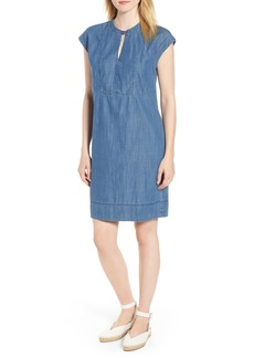 J.Crew Dorado Keyhole Chambray Dress (Regular & Petite)