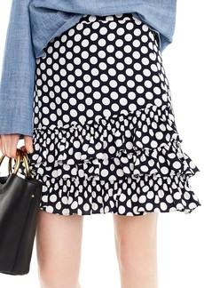 J.Crew Dot Ruffle Skirt (Regular & Petite)