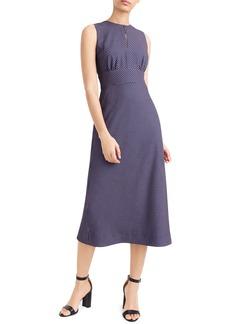 J.Crew Dotted Crepe Midi Dress