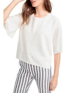 J.Crew Dramatic Sleeve Summerweight Cotton Sweater