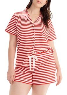 J.Crew Dreamy Stripe Knit Pajamas