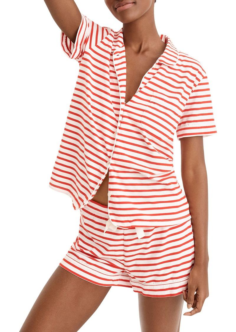 J.Crew Dreamy Striped Short Pajamas