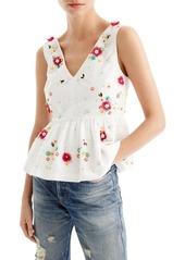 J.Crew Embellished Floral Top (Regular & Petite)