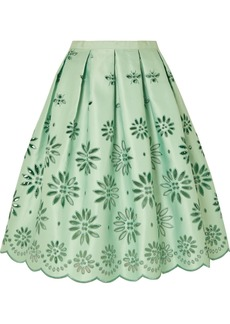 J.Crew Embroidered Duchesse-satin Midi Skirt