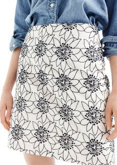 J.Crew Embroidered Floral Miniskirt (Regular & Petite)