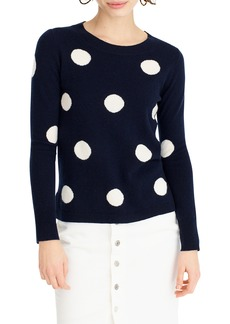 J.Crew Everyday Cashmere Polka Dot Sweater