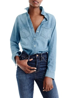 J.Crew Everyday Chambray Shirt (Regular & Petite)