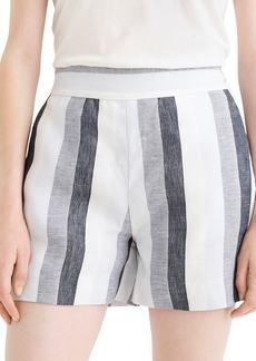 J.Crew Faded Indigo Stripe Linen Trouser Shorts