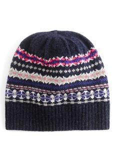 J.Crew Fair Isle Merino Wool Hat