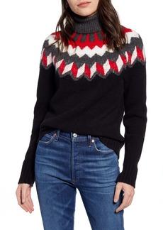 J.Crew Fair Isle Turtleneck Sweater in Supersoft Yarn