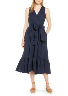 J.Crew Faux Wrap Cotton Poplin Dress