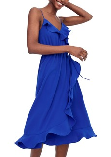 J.Crew Faux Wrap Ruffle Dress