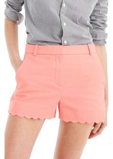 J.Crew Fiesta Scallop Hem Stretch Cotton Shorts