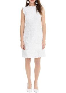 J.Crew Floral Lace Appliqué A-Line Dress