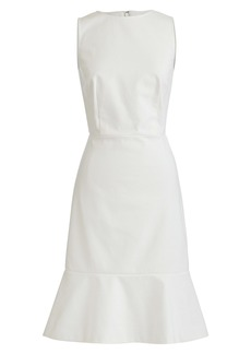 J.Crew Fluted Hem Stretch Piqué Sheath Dress
