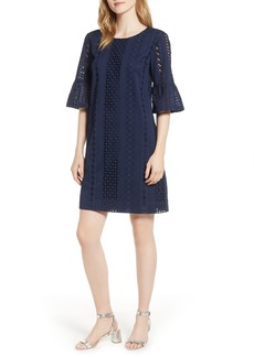 J.Crew Flutter Sleeve Eyelet Dress