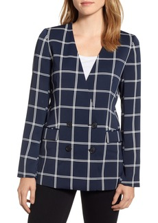 J.Crew French Girl Windowpane Crepe Blazer