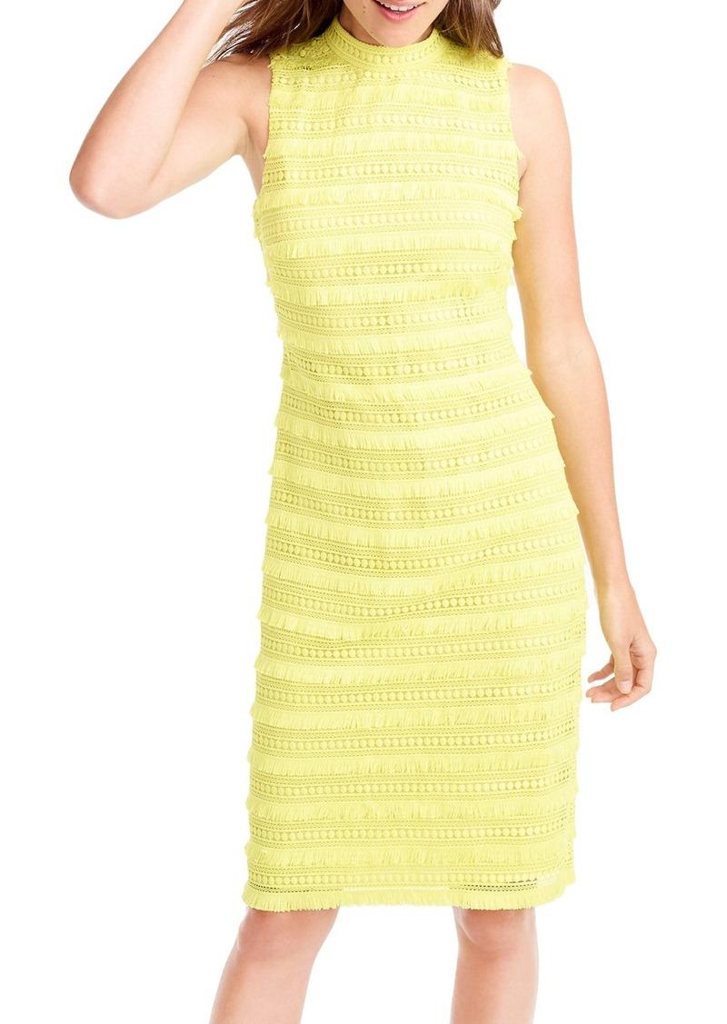 J Crew Fringy Lace Sheath Dress Regular Pee