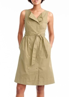 J.Crew Garment Dyed Utility Dress with Tie (Regular & Petite)