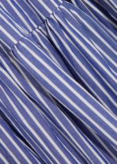 471075564 J.Crew J.Crew Garratt tiered striped cotton-poplin midi dress Now $68.00