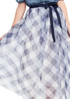 J.Crew Gingham Tulle Skirt