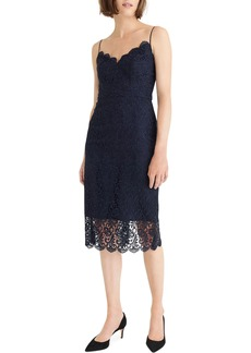 J.Crew Guipure Lace Spaghetti Strap Dress