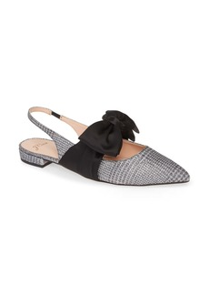 J.Crew Gwen Slingback Flat with Bow (Women)