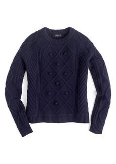 J.Crew Hawthorne Cable Pom-Pom Sweater