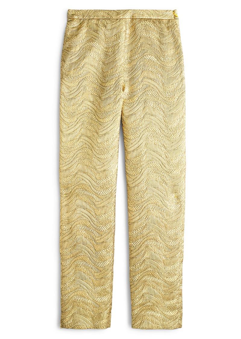 J.Crew High Waist Cigarette Pants (Dark Gold)