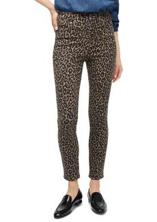 J.Crew Highest Rise Toothpick Jeans in Leopard (Dusty Khaki)