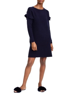 J.Crew Holden Ruffle Sleeve Cable Knit Sweater Dress (Regular & Petite)