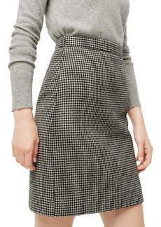 J.Crew Houndstooth Wool Miniskirt