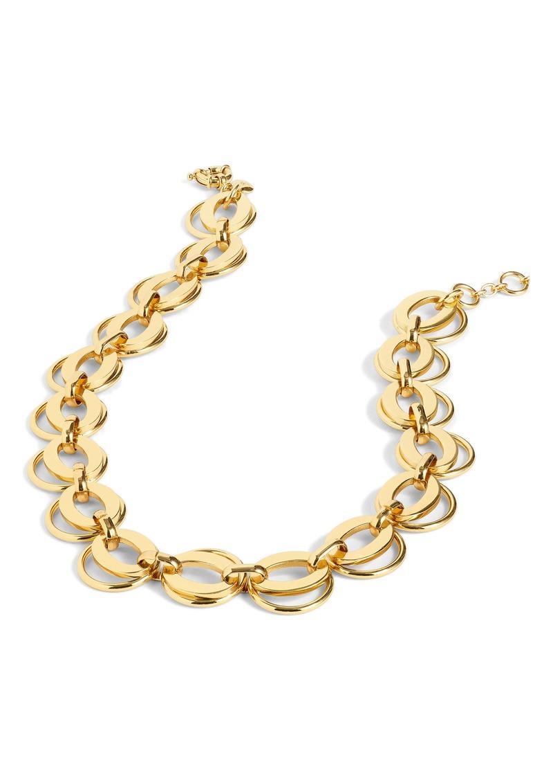 J.Crew Interlocking Loop Link Necklace