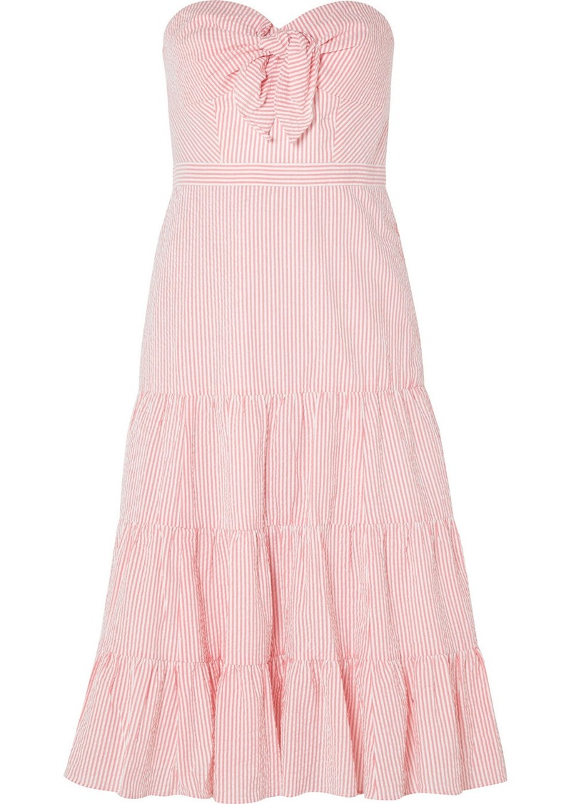 J.Crew Jackaroo Strapless Striped Cotton-seersucker Dress | Dresses