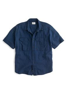 J.Crew Japanese Denim Utility Pocket Shirt