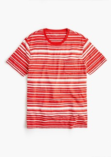 J.Crew Jeans slub cotton T-shirt in variegated stripe