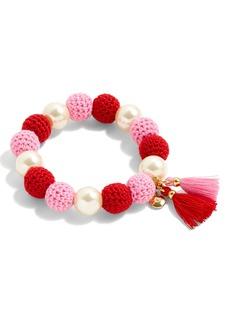 J.Crew Crochet Bead & Glass Pearl Bracelet