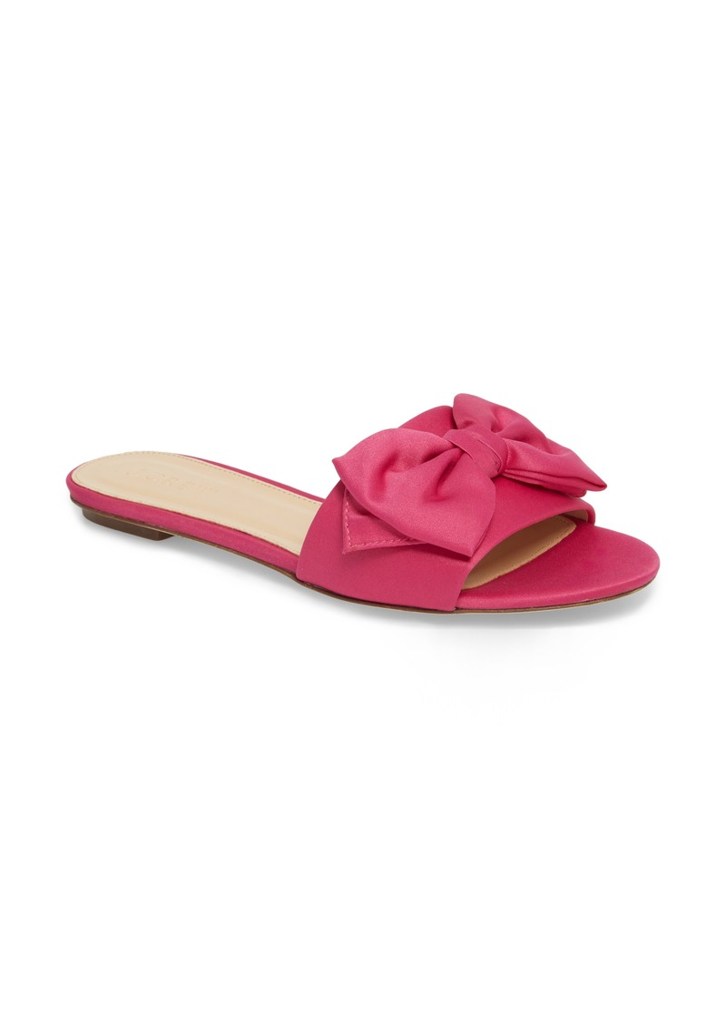 0fcf4a7a7 J.Crew J.Crew Knotted Satin Bow Slide (Women) | Shoes