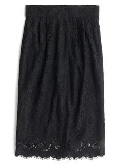 J.Crew Lace Pintuck Pencil Skirt