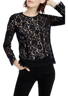 J.Crew Lace Top with Built-In Camisole (Regular & Petite)