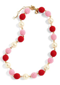 J.Crew Crochet Bead & Glass Pearl Necklace