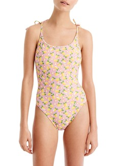 J.Crew Lemon Print One-Piece Swimsuit