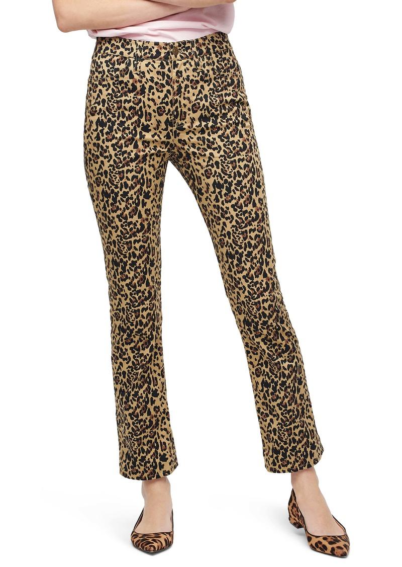 J.Crew Leopard Kickout Crop Pants