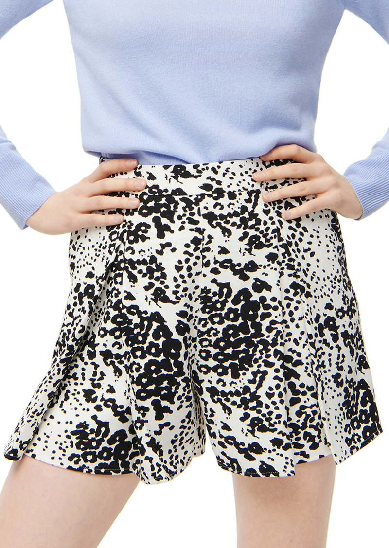 J.Crew Leopard Pleated 365 Crepe Shorts