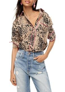 J.Crew Leopard Print Button-Up Shirt